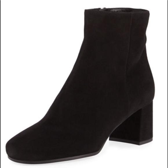e8e13772e9 Prada Shoes | Suede Block Heel Bootie 55mm Size85 Eu 385 | Poshmark